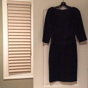 Navy David Meister dress
